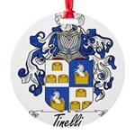 Tinelli Coat of Arms Round Ornament