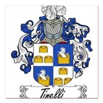 Tinelli Coat of Arms Square Car Magnet 3