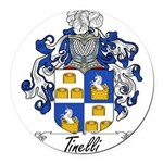 Tinelli Coat of Arms Round Car Magnet