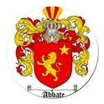 abbate.png Round Car Magnet
