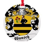 Wunsch_6 Round Ornament