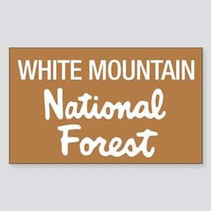 White Mountain (Sign) Nationa Sticker (Rectangular