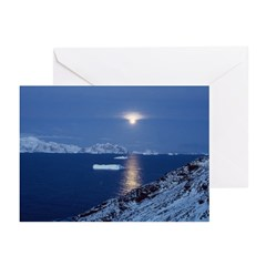 Moon Rise Antarctica Greeting Cards (Pk of 10)
