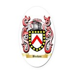 Beahan Oval Car Magnet