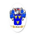Beaby Oval Car Magnet
