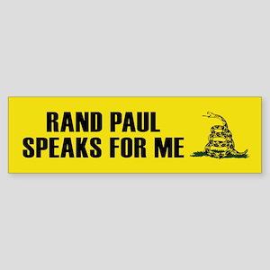 Rand Paul Speaks For Me Bumper Sticker