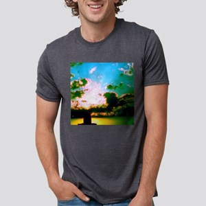 Peaceful Sunset Water Tower Mens Tri-blend T-Shirt