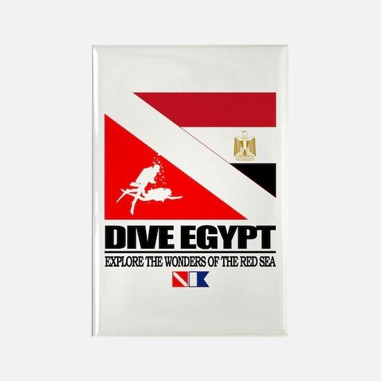 Dive Egypt Rectangle Magnet