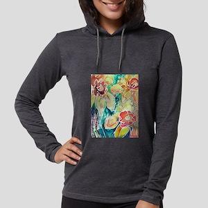 Daffodils! Spring flower art! Womens Hooded Shirt