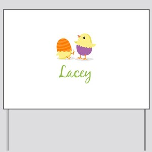 Easter Chick Lacey Yard Sign