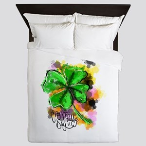 Happy St Paddy's Day Queen Duvet