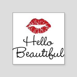 Hello Beautiful Red Lips Sticker