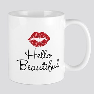 Hello Beautiful Red Lips Mug