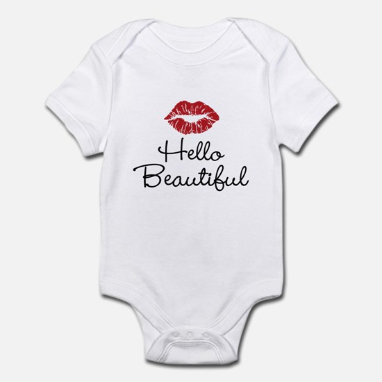 Hello Beautiful Red Lips Body Suit