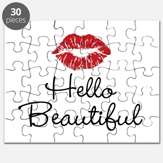 Hello Beautiful Red Lips Puzzle