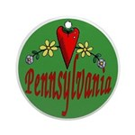 Love Pennsylvania Ornament (Round)