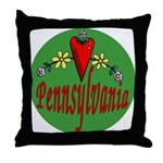 Love Pennsylvania Throw Pillow