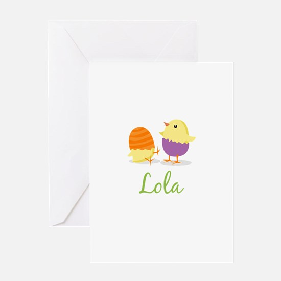 Easter Chick Lola Greeting Card