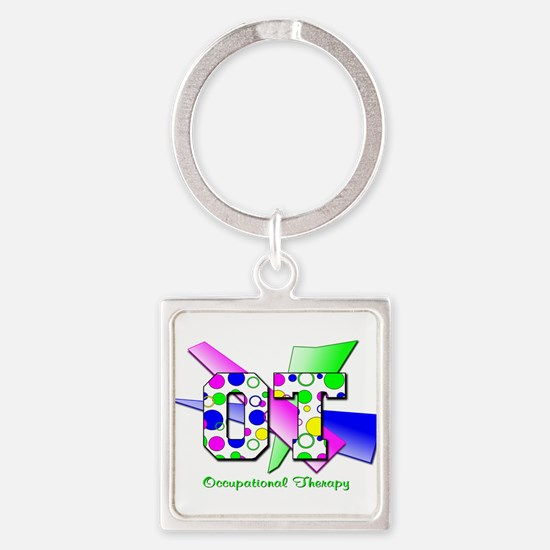 OT dots and circles.png Square Keychain