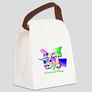 OT dots and circles Canvas Lunch Bag