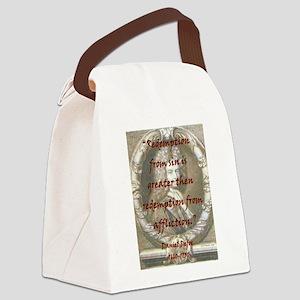 Redemption From Sin - Defoe Canvas Lunch Bag