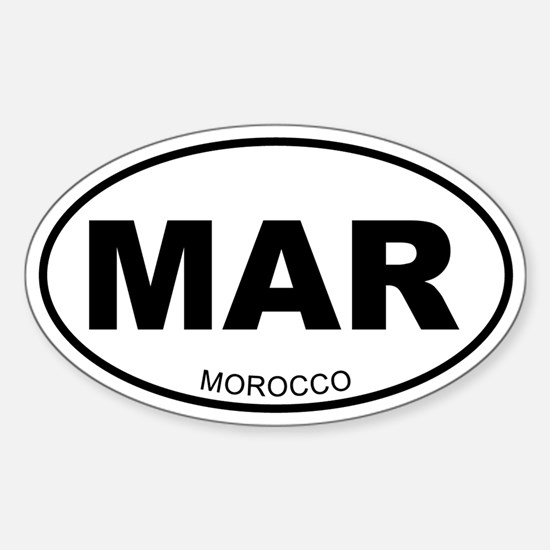 Morocco Oval Decal