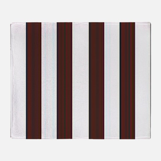 Dark brown and white stripes Throw Blanket