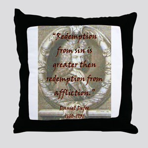 Redemption From Sin - Defoe Throw Pillow
