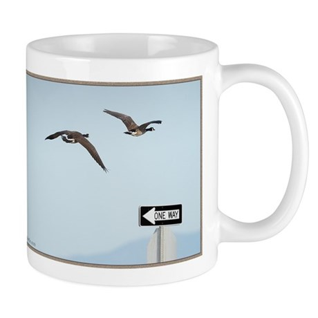 Canada Geese Mug - Flying One Way