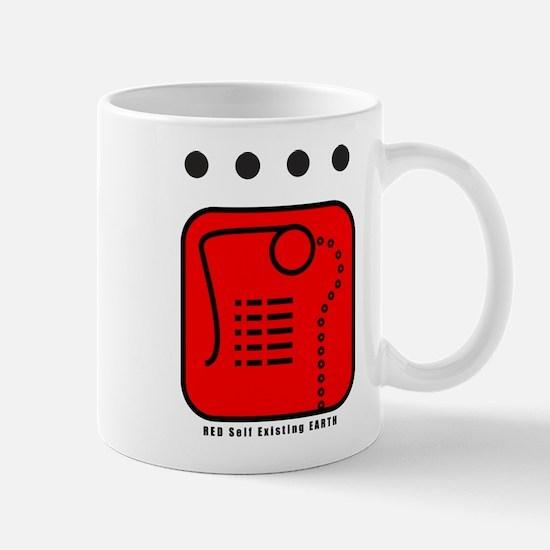 RED Self-Existing EARTH Mug