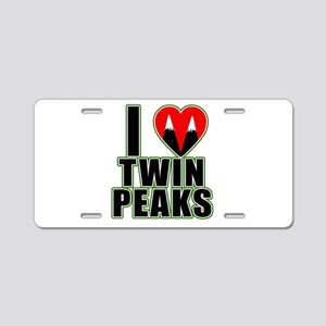 I Love Twin Peaks Aluminum License Plate