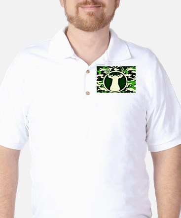 Camo Deer Golf Shirt