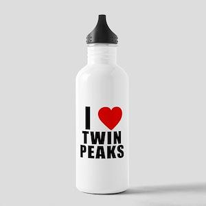 I Heart Twin Peaks Stainless Water Bottle 1.0L