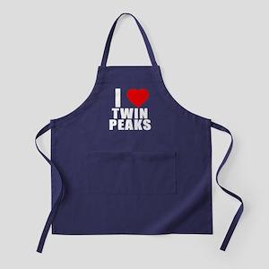 I Heart Twin Peaks Apron (dark)