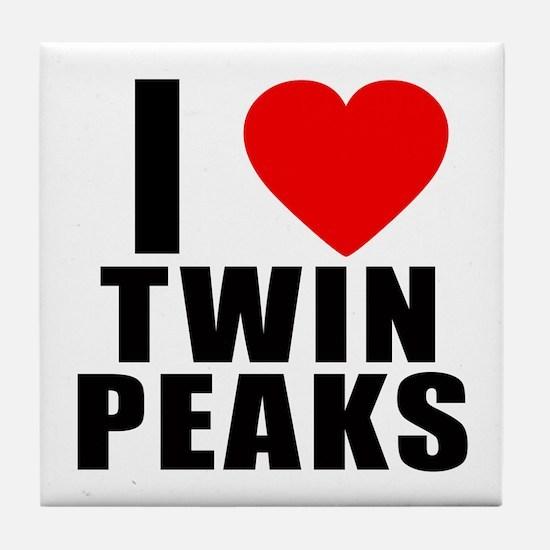 I Heart Twin Peaks Tile Coaster