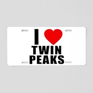 I Heart Twin Peaks Aluminum License Plate