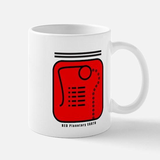 RED Planetary EARTH Mug