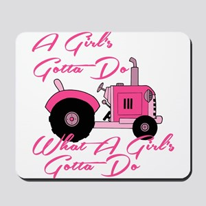 Pink Tractor Mousepad