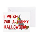 I Witch You A Happy Halloween Greeting Cards (Pack