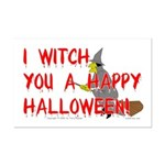 I Witch You A Happy Halloween Mini Poster Print