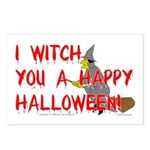 I Witch You A Happy Halloween Postcards (Package o