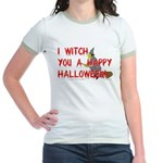 I Witch You A Happy Halloween Jr. Ringer T-Shirt