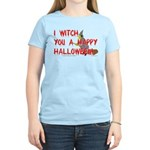 I Witch You A Happy Halloween Women's Pink T-Shirt