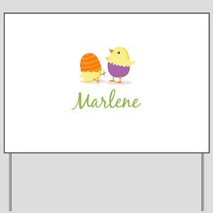 Easter Chick Marlene Yard Sign
