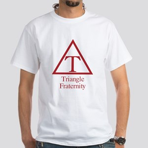 Triangle Fraternity White T-Shirt