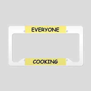 mom the cook License Plate Holder