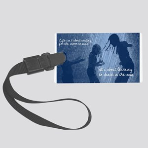 Dance in the Rain Large Luggage Tag