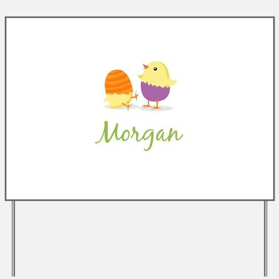Easter Chick Morgan Yard Sign
