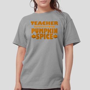 Teacher Powered by Pumpkin Spice Womens Comfort Co