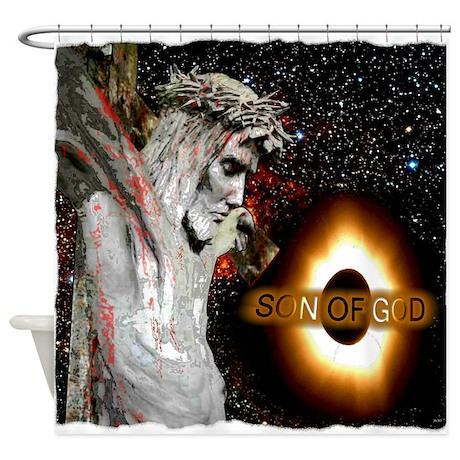 Jesus Christ Son Of God art illustration Shower Cu